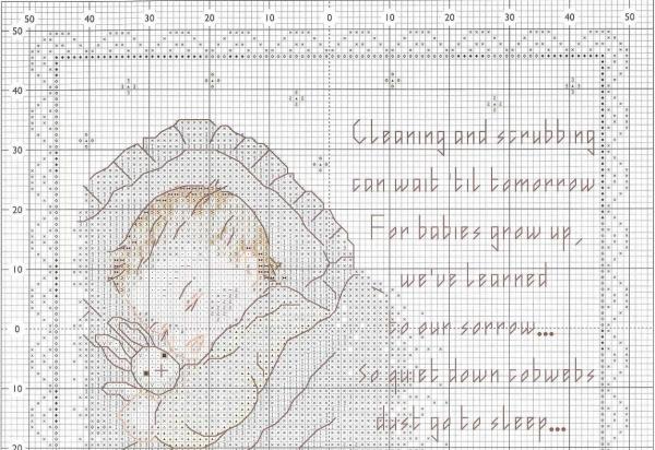 Схема вышивки крестом детской метрики