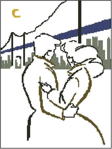 Пара на фоне Нью-Йорка