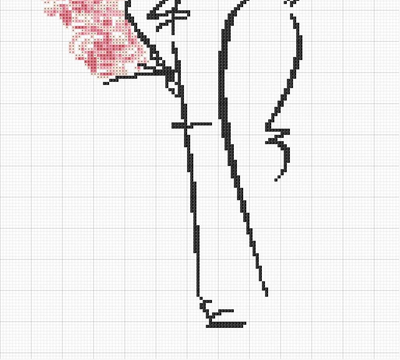 Вышивка крестом схемы черно белые силуэты 2