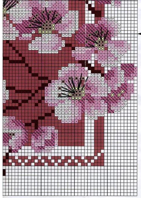 Схема для вышивки сакуры