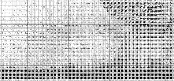 Схема вышивки бегущего по воде тигра