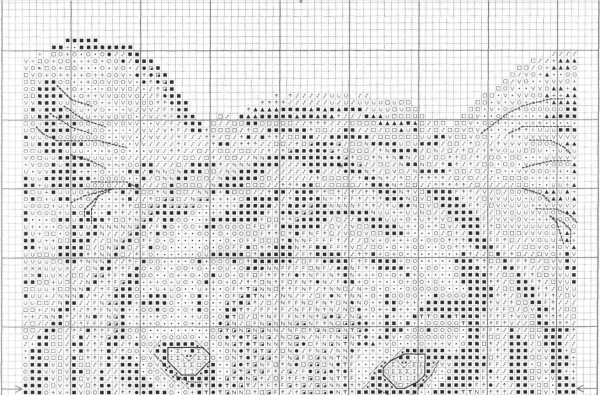 Схема вышивки крестом красавца