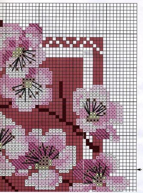 Схема вышивки сакуры