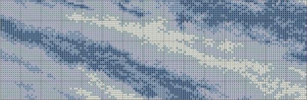 Схема вышивки сибирского тигра на снегу