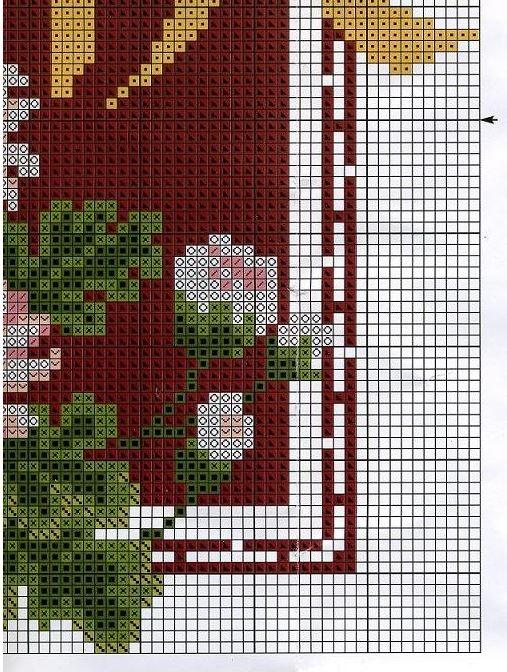 Схема для вышивки хризантемы
