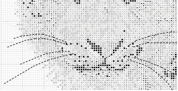 Схема для вышивки крестом снежного барса