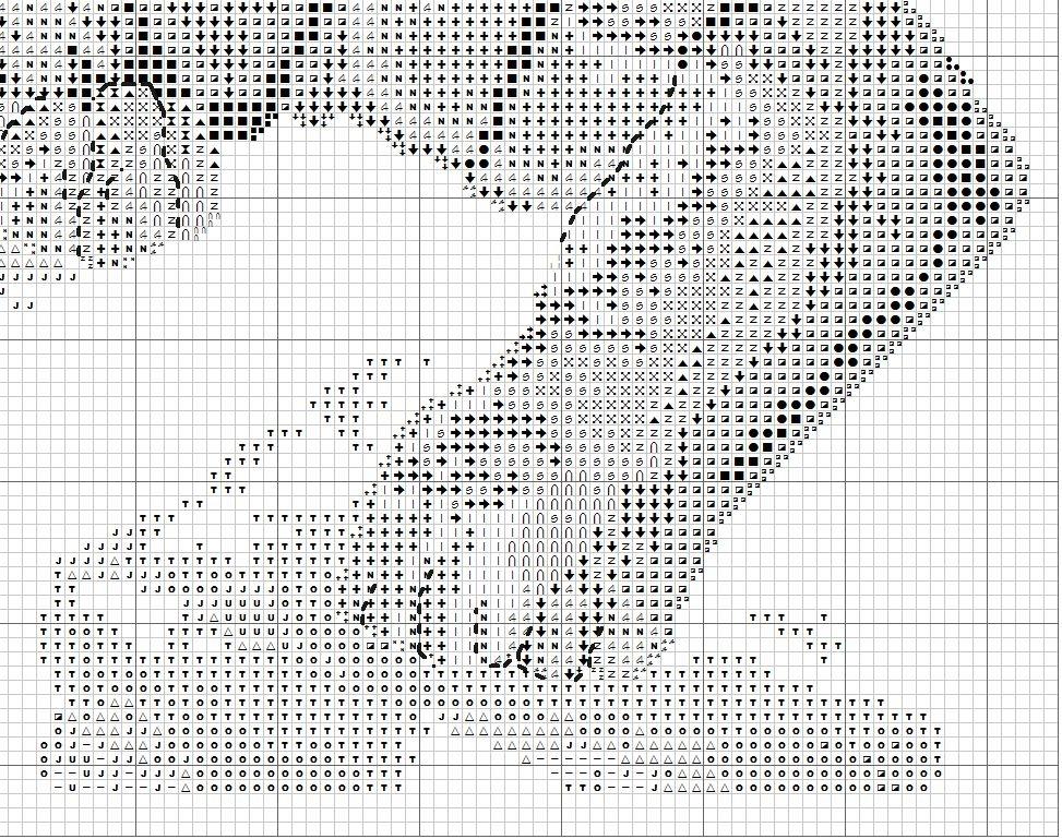 Схема для вышивки тигра на