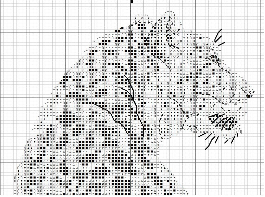 Черно-белые схемы для вышивки крестиком большие 35