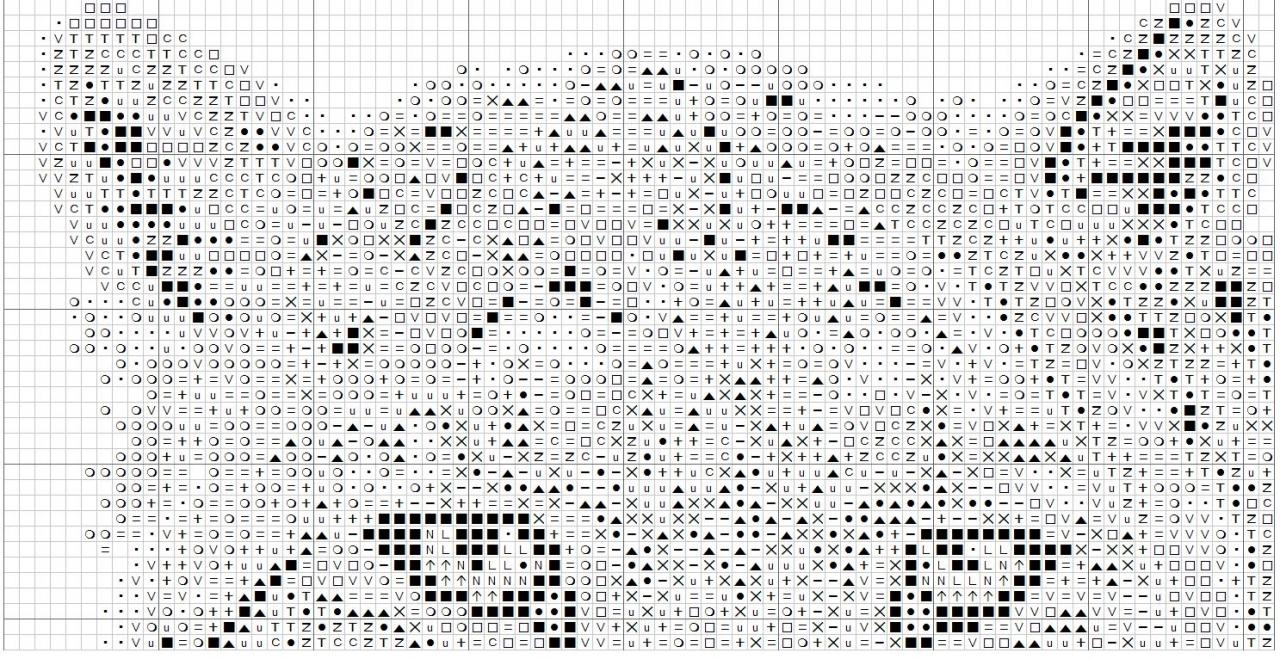Схемы для вышивки крестом снежного барса