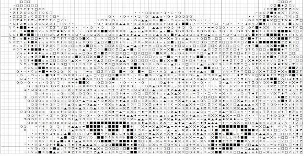 Схема вышивки крестом снежного барса