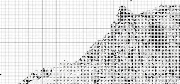 Схема вышивки крестом тигра на скале