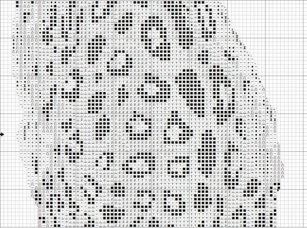 Схема вышивки леопарда на темной канве