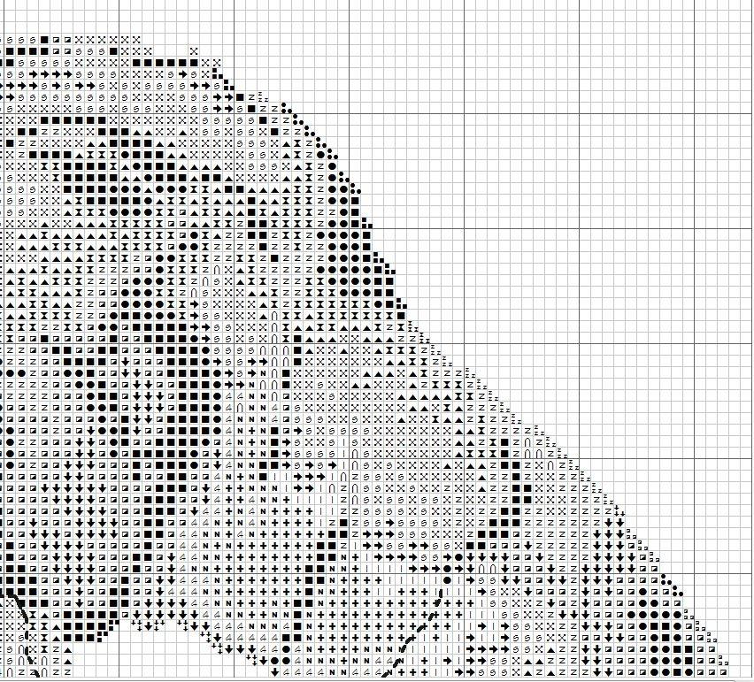 Схемы вышивки на черной канве белыми нитками 90