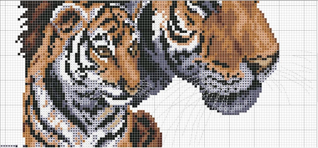 Вышивка тигренок скачать