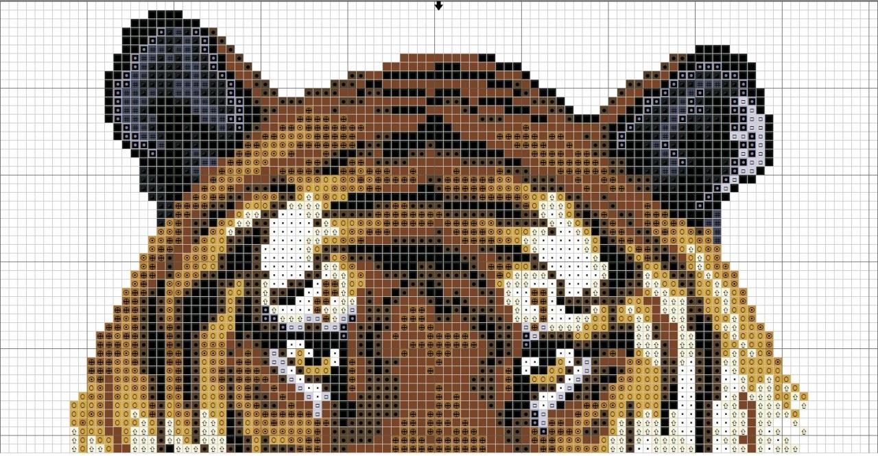 Вышивка крестом тигра схемы 55