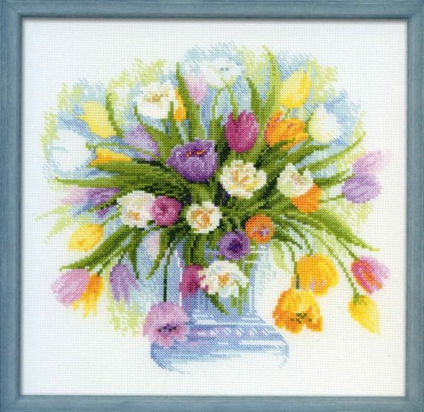 Акварельные тюльпаны