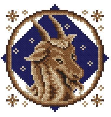 Вышивка знак зодиака.козерог