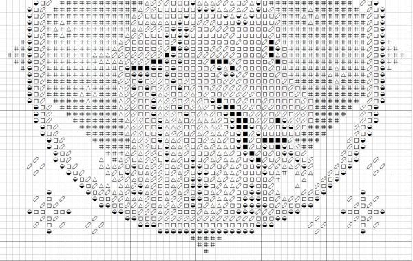 Схема для вышивки крестом знак Зодиака Козерог