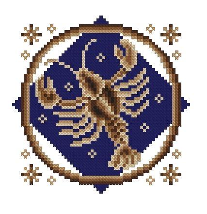 Схемы вышивки знаки зодиака рак