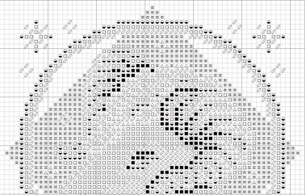 Схема вышивки крестом Овен