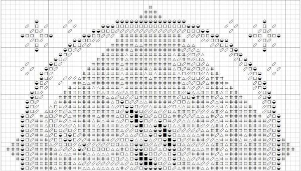 Схема вышивки крестом Рак знак Зодиака