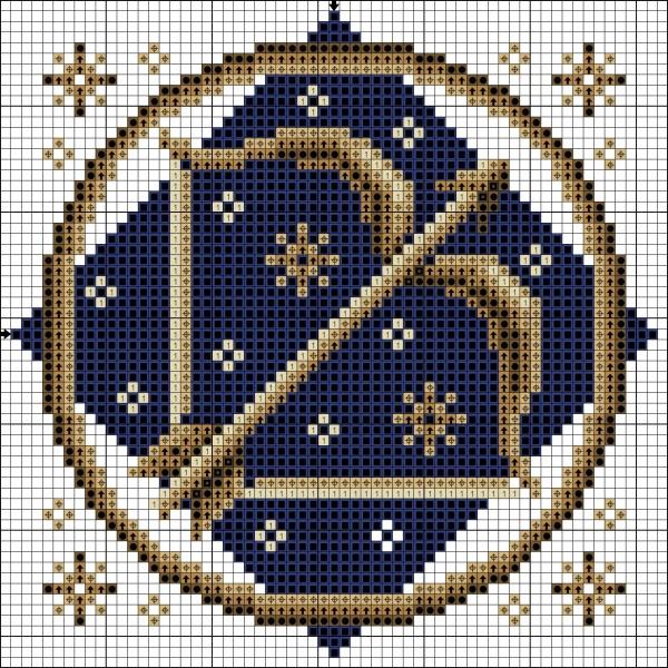 Схема вышивки крестом Стрелец знак Зодиака