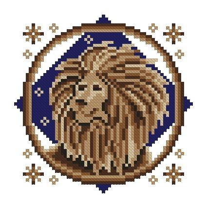Схема вышивки крестом знака