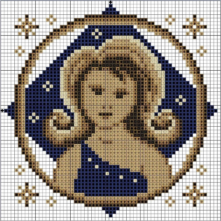 Схема вышивки крестом Дева