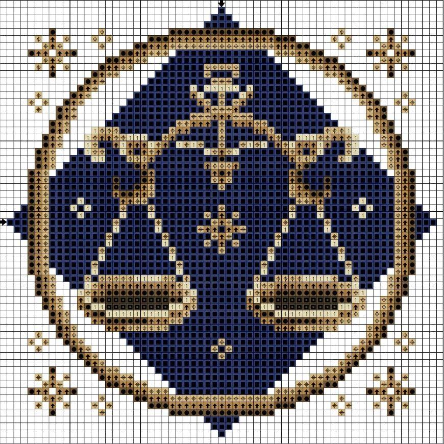 Схемы вышивки знака зодиака весов