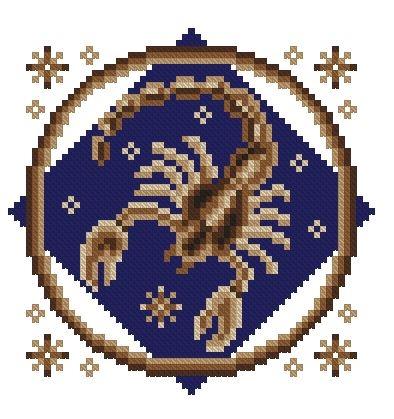 Вышивка знака скорпиона