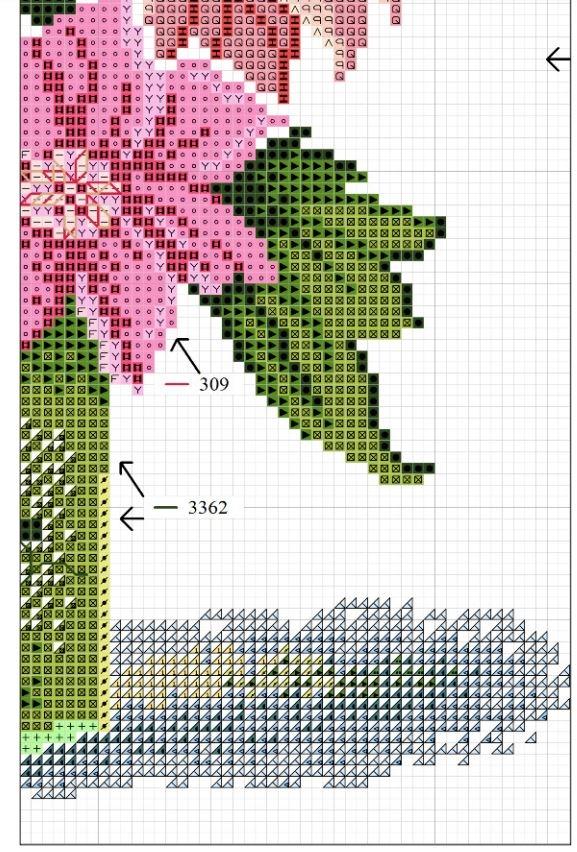 Схема для вышивки георгинов