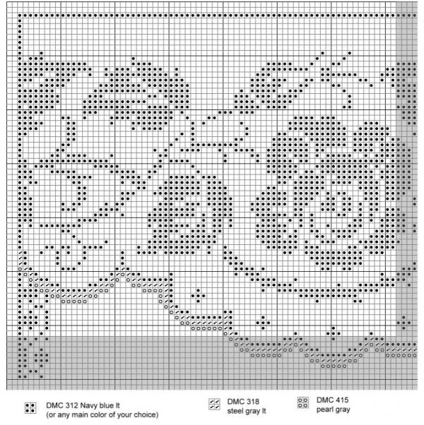 Схема вышивки крестом алфавита сад с розами