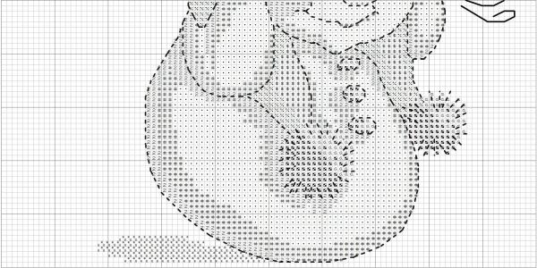 Схема для вышивки крестом снеговика