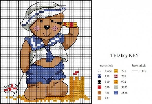 Схема вышивки крестом мишки