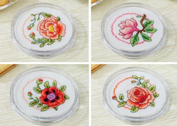 Цветочные подставки под чашки