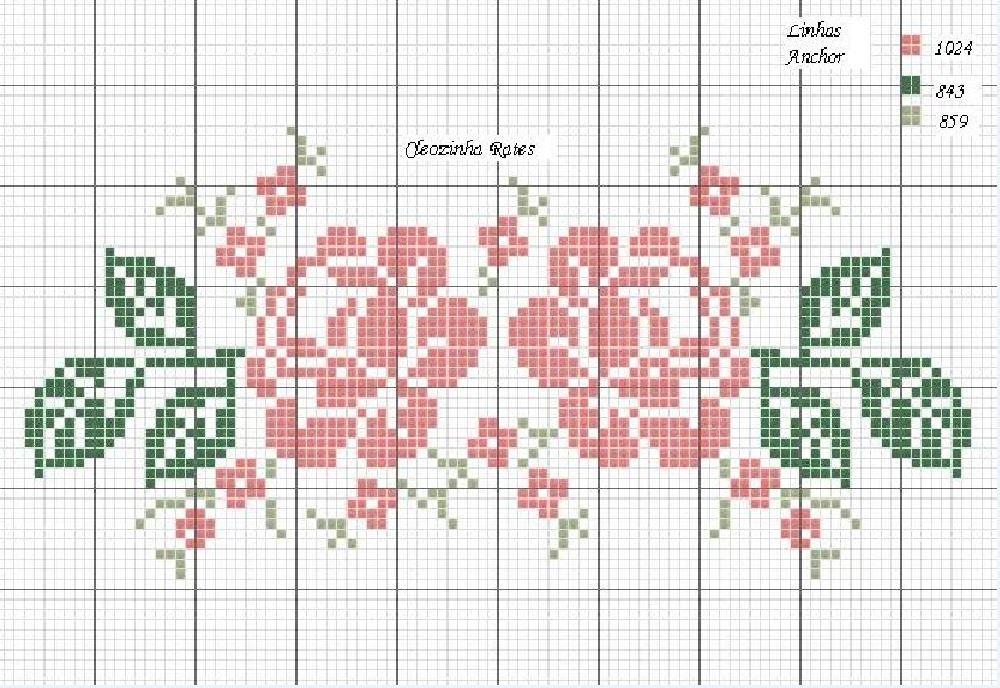 Схемы для вышивки крестом роз своими руками с фото