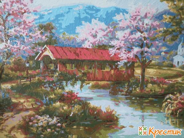 Пейзаж красками