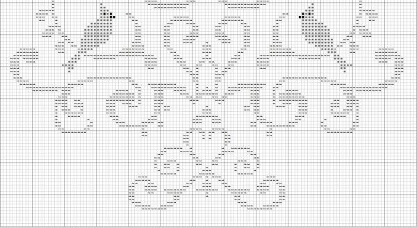 Схема вышивки дерева птиц