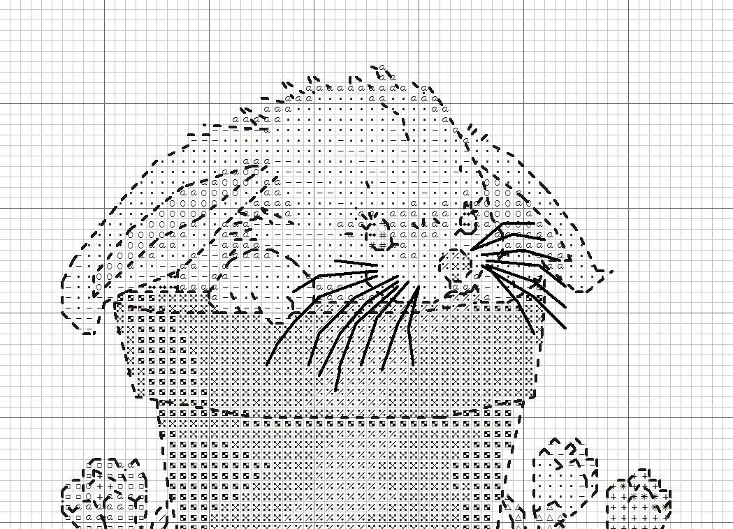 схема вышивки крестом зайчонка