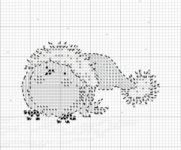 Схема вышивки птиц в шапках