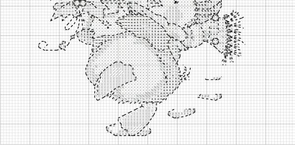Схема для вышивки крестом утки с подарками