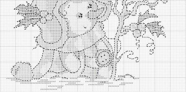 Схема для вышивки крестом зимнего сюжета