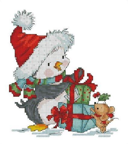 Утка и мышь с подарками
