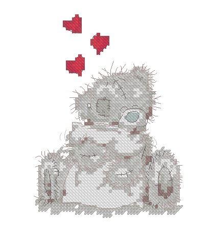 Медведь Тедди с подушкой