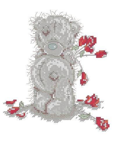 Мишка Тедди с розами