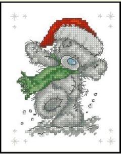 Медведь Тедди в шапке Санта-Клауса