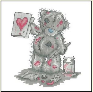 Мишка Тедди нарисовал сердце