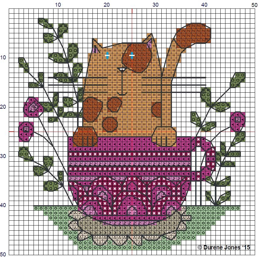 Схема вышивки крестом кота в