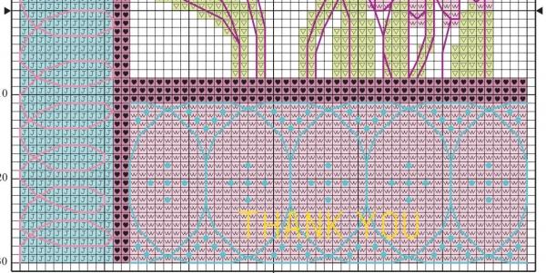 Схема для вышивки крестом ромашка розовая