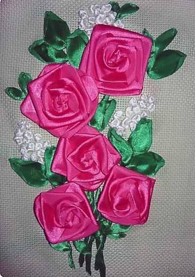 Букет роз из лент